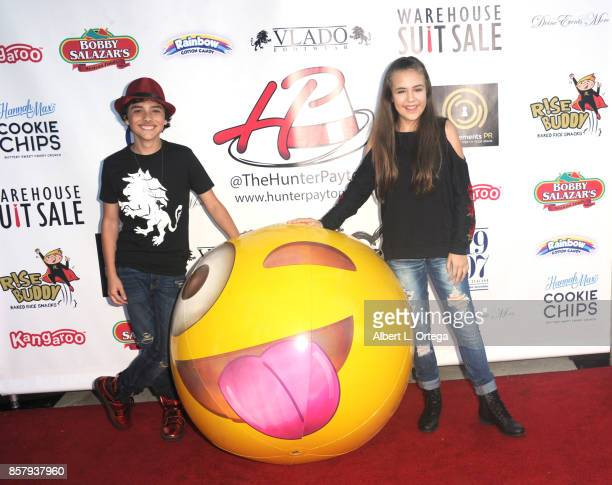 Actor Hunter Payton and actress Alyssa de Boisblanc at his 13th Birthday Bash held at a private location on October 4 2017 in Simi Valley California