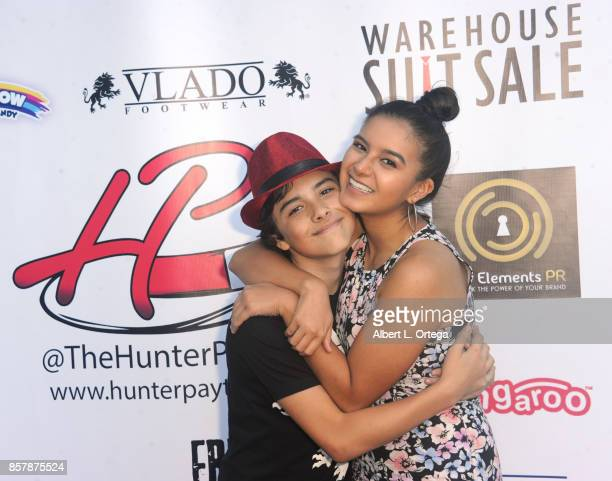 Actor Hunter Payton and Amber Romero at his 13th Birthday Bash held at a private location on October 4 2017 in Simi Valley California