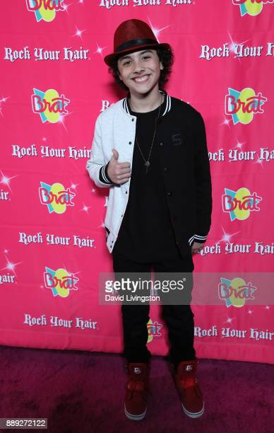 Actor Hunter Payton attends social media influencer Annie LeBlanc's 13th birthday party at Calamigos Beach Club on December 9 2017 in Malibu...