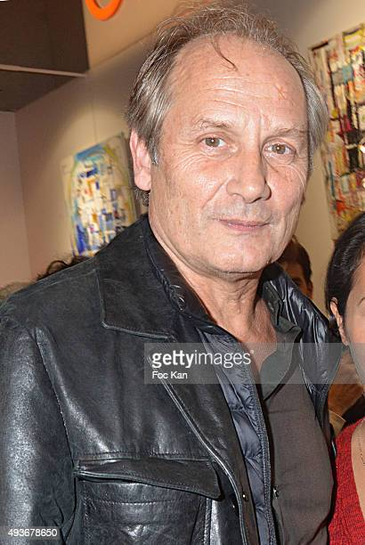 Actor Hyppolite Girardot attend the Cocktail Orange during the FIAC 2015 International Contemporary Art Fair At Grand Palais on October 21 2015 in...