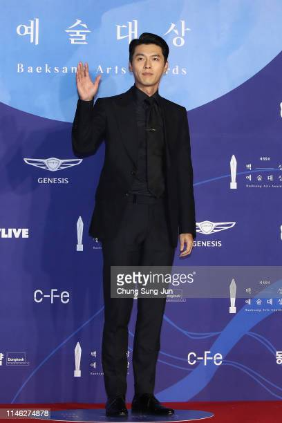 Actor Hyun Bin attends the 55th Baeksang Arts Awards at COEX D Hall on May 01 2019 in Seoul South Korea
