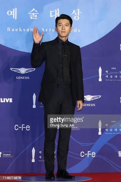 Actor Hyun Bin attends the 55th Baeksang Arts Awards at COEX D Hall on May 01, 2019 in Seoul, South Korea.