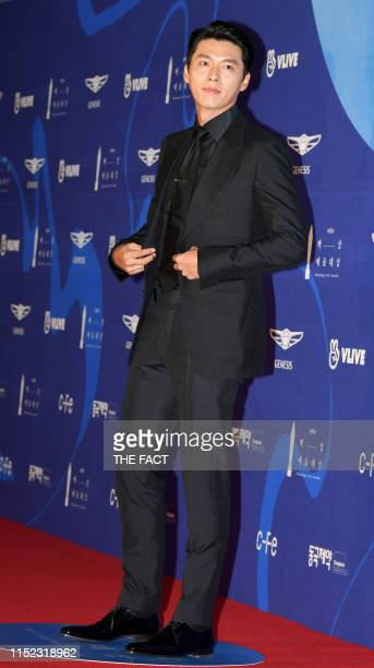 Actor Hyun Bin attensd the red carpet event of the 55th Baeksang Arts Awards held at COEX in southern Seoul on May 1 2019 in Seoul South Korea