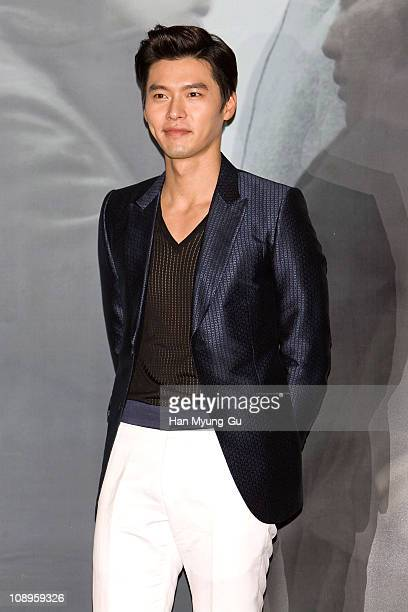 Actor Hyun Bin from South Korea attends during a Late Autumn press conference at Wangaimni CGV on February 10 2011 in Seoul South KoreaThe film will...
