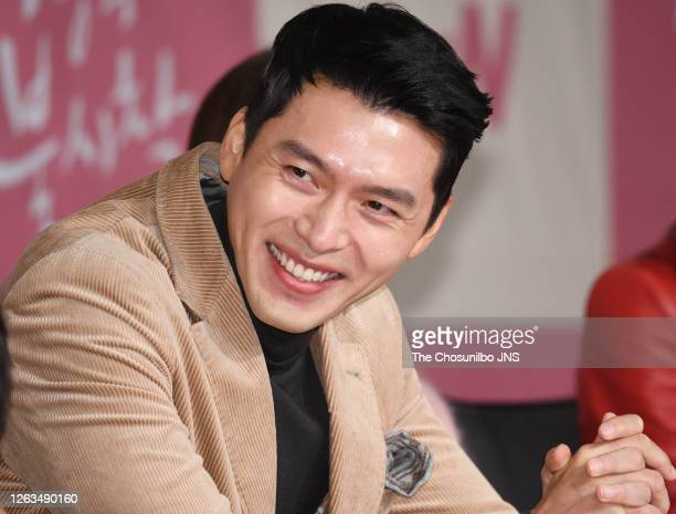 Actor Hyun-Bin during a press conference of tvN drama 'Crashing Landing On You' at Four Seasons Hotel on December 09, 2019 in Seoul, South Korea.