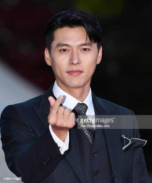 October 28: Actor Hyun-Bin during a red carpet event of 2020 Korean Popular Culture and Art Awards at Kyunghee University Peace Hall on October 28,...