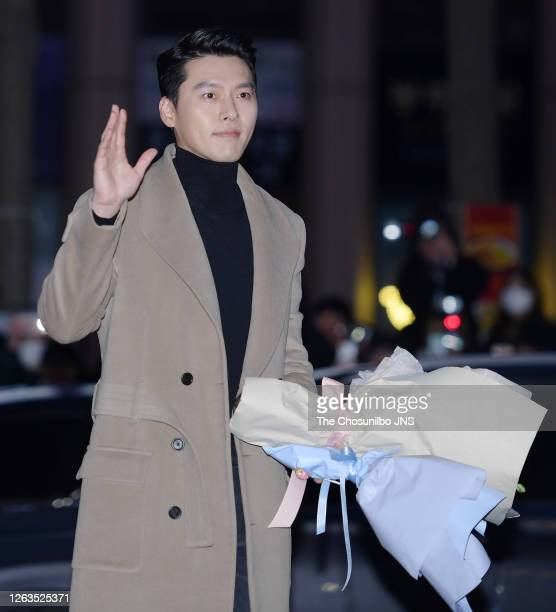 Actor Hyun-Bin during at tvN Drama 'Crash Landing On You' Ending Party at Heukdonga restuarant on February 16, 2020 in Seoul, South Korea.