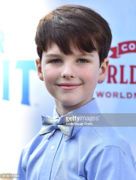 Actor Iain Armitage attends the Los Angeles Premiere of 'Peter Rabbit' at The Grove on February 3 2018 in Los Angeles California