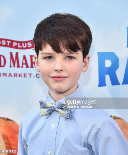 Actor Iain Armitage attends the premiere of Columbia Pictures' Peter Rabbit at The Grove on February 3 2018 in Los Angeles California