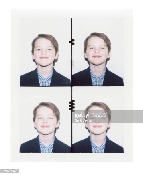 Actor Iain Armitage of CBS's 'Young Sheldon' is photographed on polaroid film during the 2017 Summer Television Critics Association Press Tour at The...