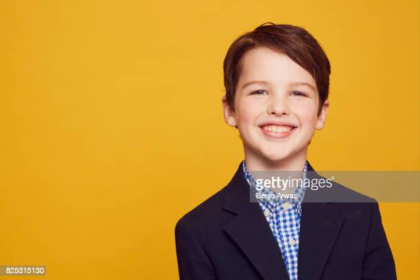 Actor Iain Armitage of CBS's 'Young Sheldon' poses for a portrait during the 2017 Summer Television Critics Association Press Tour at The Beverly...