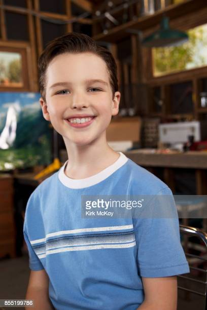 Actor Iain Armitage of CBS's 'Young Shledon' is photographed for Los Angeles Times on August 31 2017 in Los Angeles California PUBLISHED IMAGE CREDIT...