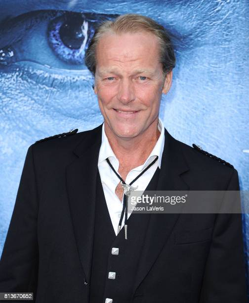 """Actor Iain Glen attends the season 7 premiere of """"Game Of Thrones"""" at Walt Disney Concert Hall on July 12, 2017 in Los Angeles, California."""