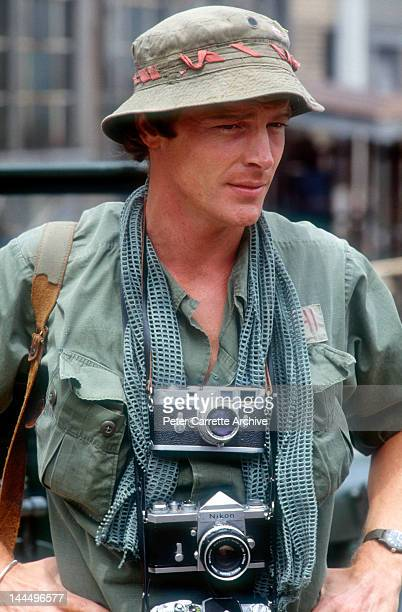 Actor Iain Glen on the set of the television mini series 'Frankie's House' in 1992 in Australia