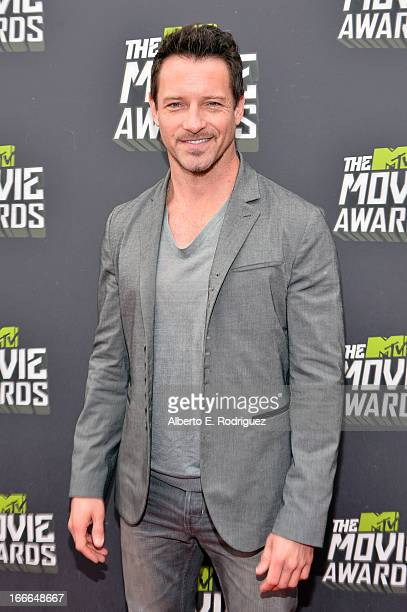 Actor Ian Bohen arrives at the 2013 MTV Movie Awards at Sony Pictures Studios on April 14, 2013 in Culver City, California.