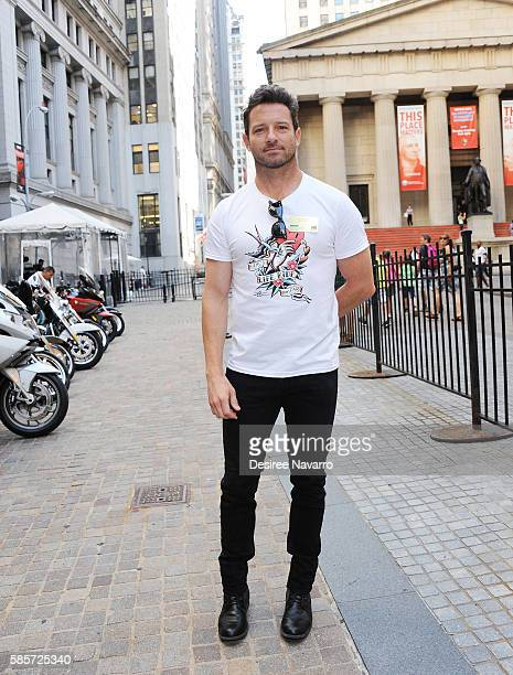 Actor Ian Bohen attends Kiehl's And amfAR Ring The New York Stock Exchange Opening Bell In Honor Of The Kiehl's LifeRide For amfAR at New York Stock...