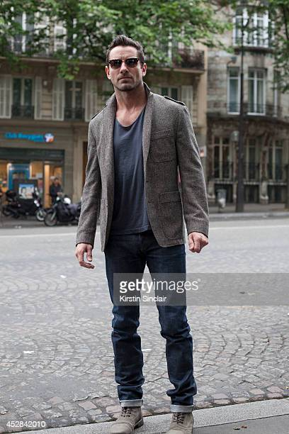 Actor Ian Bohen day 4 of Paris Haute Couture Fashion Week Autumn/Winter 2014 on July 9 2014 in Paris France