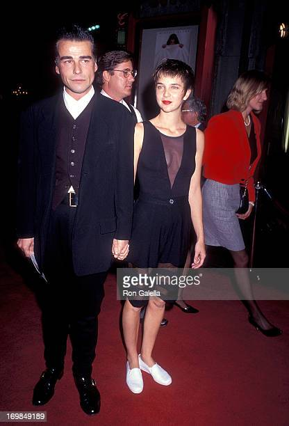 Actor Ian Buchanan and date Jill Sharpe Miller attend 'Sibling Rivalry' Hollywood Premiere on October 24 1990 at the Mann's Chinese Theatre in...