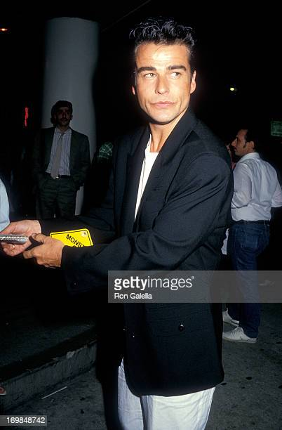 Actor Ian Buchanan attends 'The Monster Squad' Premiere Party on August 11 1987 at the Hard Rock Cafe 8600 Beverly Blvd in Los Angeles California