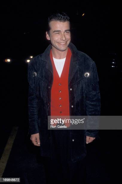 Actor Ian Buchanan attends the Young Artists United's OneYear Anniversary Celebration on April 29 1987 at Ed Debevic's Short Order Deluxe in Beverly...