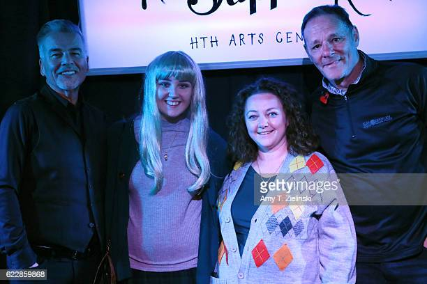 Actor Ian Buchanan who portrayed Dick Tremayne and actor Chris Mulkey who portrayed Hank Jennings on 'Twin Peaks' pose with fans dressed as Laura...