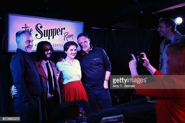 Actor Ian Buchanan who portrayed Dick Tremayne and actor Chris Mulkey who portrayed Hank Jennings on 'Twin Peaks' pose with fans during the Twin...