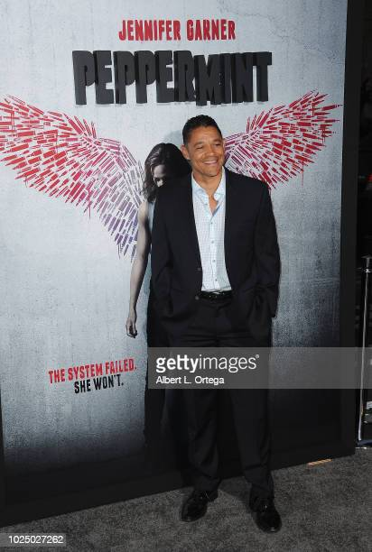 Actor Ian Casselberry arrives for the Premiere Of STX Entertainment's Peppermint held at Stadium 14 on August 28 2018 in Los Angeles California