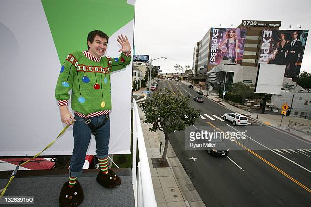 Actor Ian Delaney plays Arthur Christmas as the 12 Days of 'Arthur Christmas' kicks off across the country highlighted by the Living Billboard on...