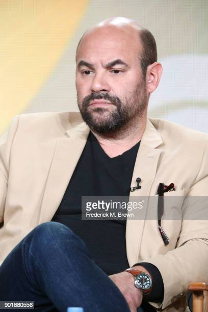 Actor Ian Gomez of the television show Living Biblically speaks onstage during the CBS/Showtime portion of the 2018 Winter Television Critics...