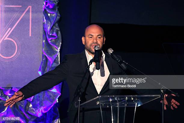 Actor Ian Gomez speaks on stage during the 16th annual Golden Trailer Awards held at Saban Theatre on May 6 2015 in Beverly Hills California