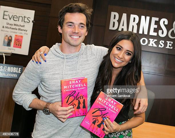 """Actor Ian Harding attends Shay Mitchell's book signing for """"Bliss"""" at Barnes & Noble at The Grove on October 12, 2015 in Los Angeles, California."""