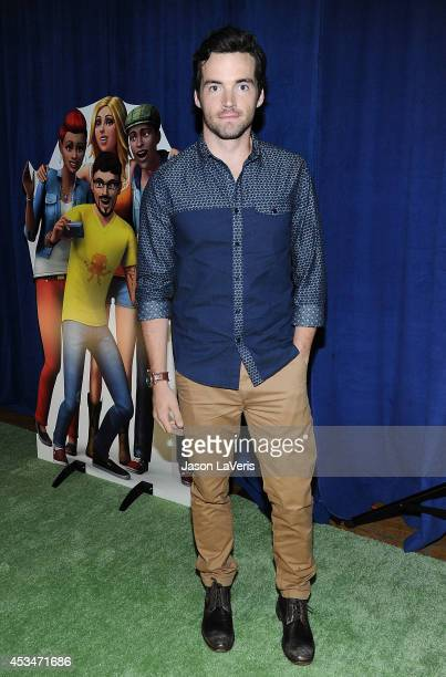 Actor Ian Harding poses in the green room at the 2014 Teen Choice Awards at The Shrine Auditorium on August 10, 2014 in Los Angeles, California.