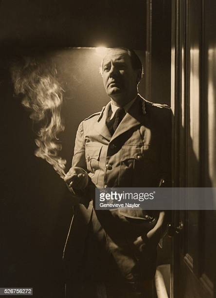Actor Ian Hunter portrays a South African Major General in the 1950 Broadway production of Graham Greene's 'The Heart of the Matter'