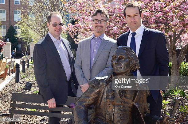 "Actor Ian Kahn and executive producers Barry Josephine and Craig Silverstein pose for a photo during the ""TURN: Washington Spies- DC Key Art..."