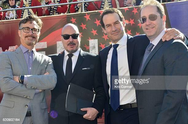 Actor Ian Kahn executive producers Barry Josephine and Craig Silverstein pose for a photo with Joel Stillerman AMCÕs president of original...