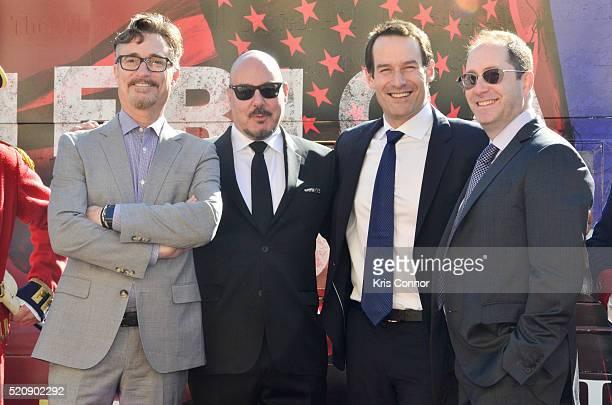 Actor Ian Kahn, executive producers Barry Josephine and Craig Silverstein pose for a photo with Joel Stillerman, AMCÕs president of original...