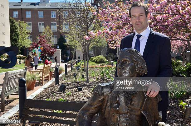 Actor Ian Kahn poses for a photo with Joel Stillerman AMCÕs president of original programming during the TURN Washington Spies DC Key Art Unveiling...