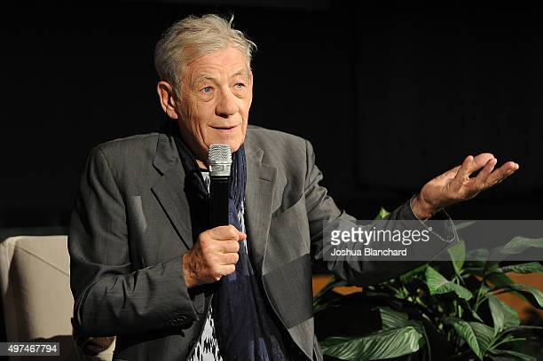 Actor Ian McKellen attends BAFTA LA Behind Closed Doors at Raleigh Studios on November 16 2015 in Los Angeles California