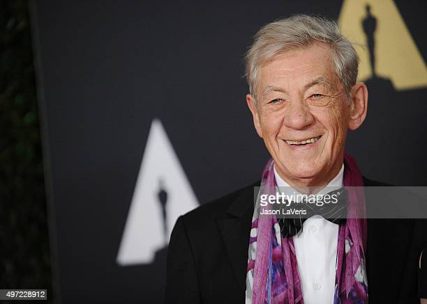 Actor Ian McKellen attends the 7th annual Governors Awards at The Ray Dolby Ballroom at Hollywood Highland Center on November 14 2015 in Hollywood...