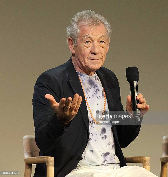 Actor Ian McKellen attends the Apple Store Soho 'Meet The Actor' at Apple Store Soho on July 14 2015 in New York City