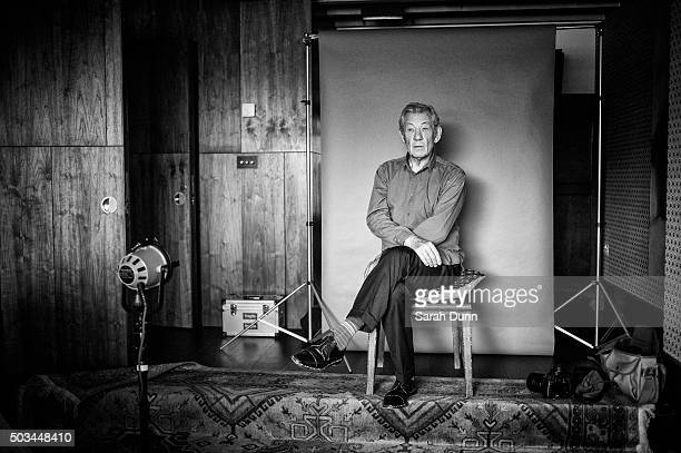 Actor Ian McKellen is photographed for the Times on October 23 2015 in London England