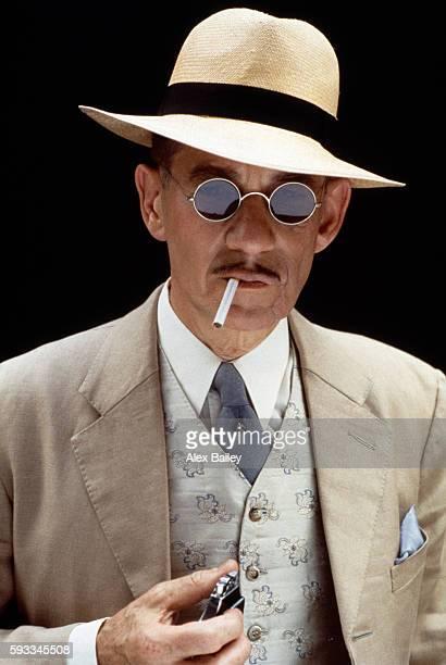 Actor Ian McKellen on the set of Richard III directed by Richard Loncraine