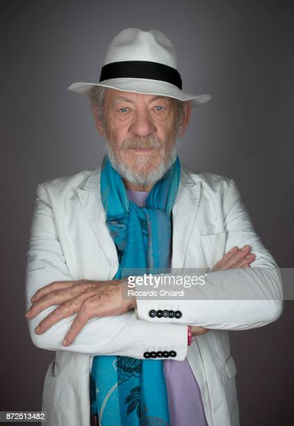 Actor Ian McKellen poses for a portrait during the 12th Rome Film Festival on November 2017 in Rome Italy
