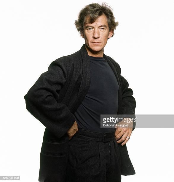 Actor Ian Mckellen posing for Elle in September 1986 in New York City New York