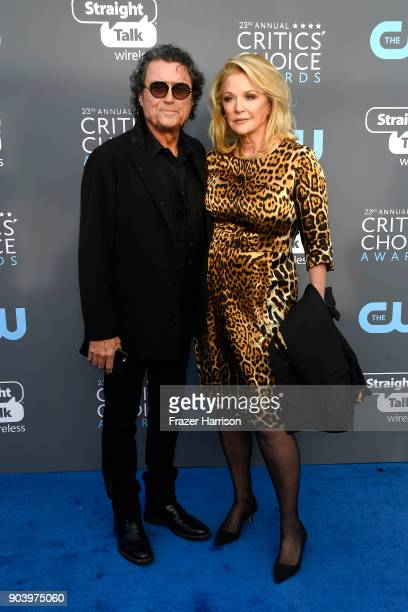 Actor Ian McShane and Gwen Humble attend The 23rd Annual Critics' Choice Awards at Barker Hangar on January 11 2018 in Santa Monica California