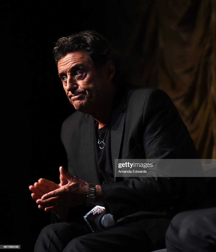 Actor Ian McShane attends the Film Independent at LACMA special screening and Q&A of 'American Gods' at the Bing Theatre at LACMA on April 10, 2017 in Los Angeles, California.