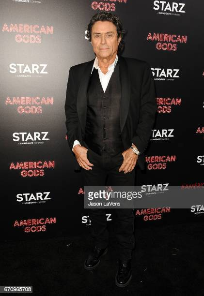 Actor Ian McShane attends the premiere of 'American Gods' at ArcLight Cinemas Cinerama Dome on April 20 2017 in Hollywood California