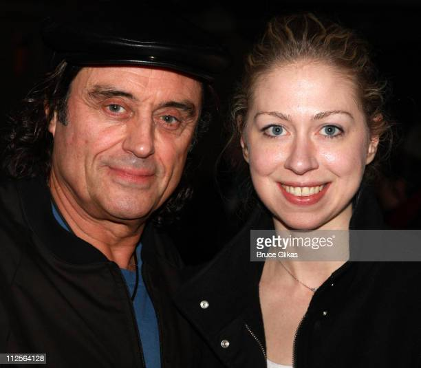 Actor Ian McShane poses with Chelsea Clinton at The Homecoming on Broadway's Broadway Cares/Equity Fights AIDS Benefit on November 25 2007 at New...