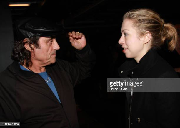 Actor Ian McShane with Chelsea Clinton at The Homecoming on Broadway's Broadway Cares/Equity Fights AIDS Benefit on November 25 2007 at New World...