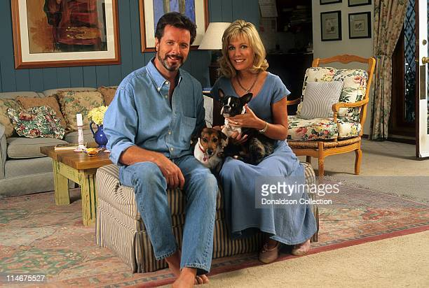Actor Ian Ogilvy and wife Kathryn Holcomb pose for a portrait in September 24 1996 in Los Angeles California
